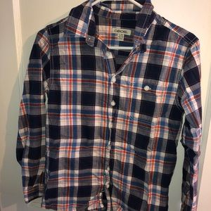 Boys Plaid Button Down